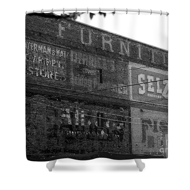 Old Shower Curtain featuring the photograph Sign Of The Times by David Lee Thompson