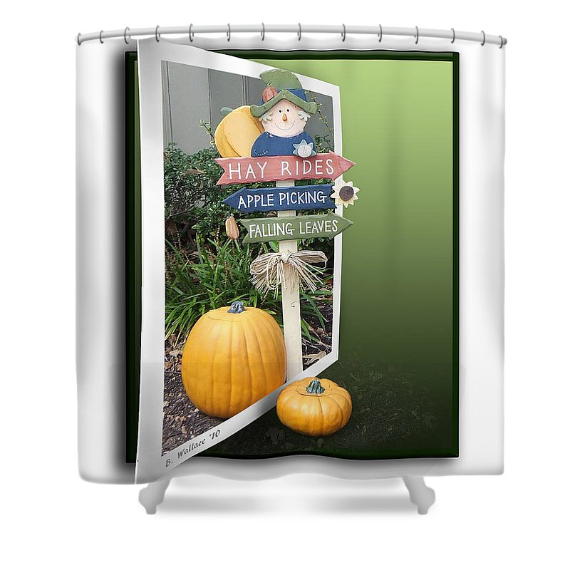 2d Shower Curtain featuring the photograph Signs Of Halloween by Brian Wallace
