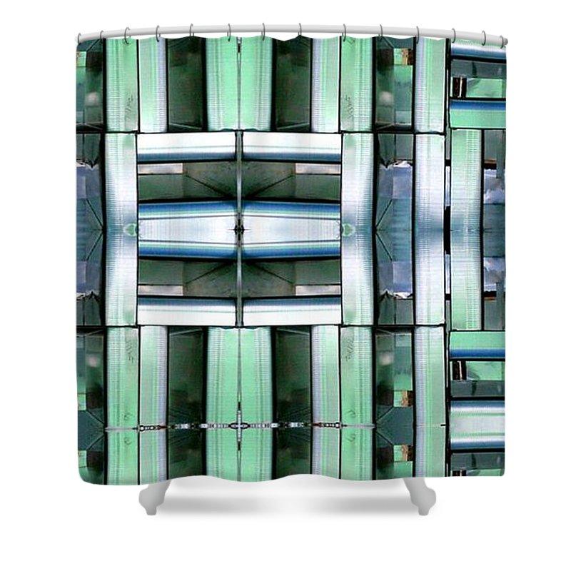 Hvac Shower Curtain featuring the digital art Silencer by Ron Bissett