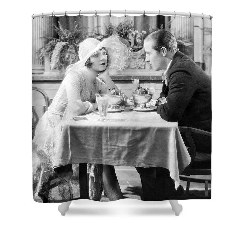 -eating Restaurants- Shower Curtain featuring the photograph Silent Film: Restaurants by Granger