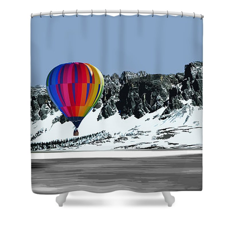 Landscape Shower Curtain featuring the digital art Silent by Roger Lighterness