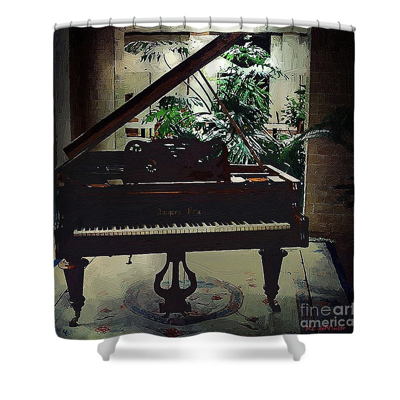 Baby Grand Shower Curtain featuring the painting Silent Symphony by RC DeWinter