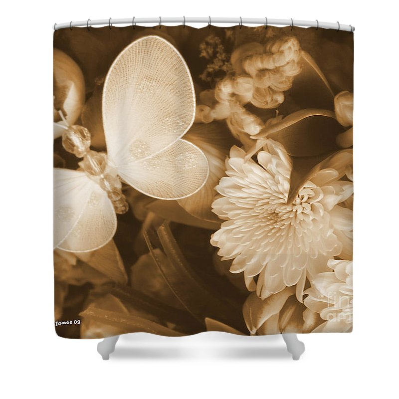 Photography Enhanced Shower Curtain featuring the photograph Silent Transformation Of Existence by Shelley Jones