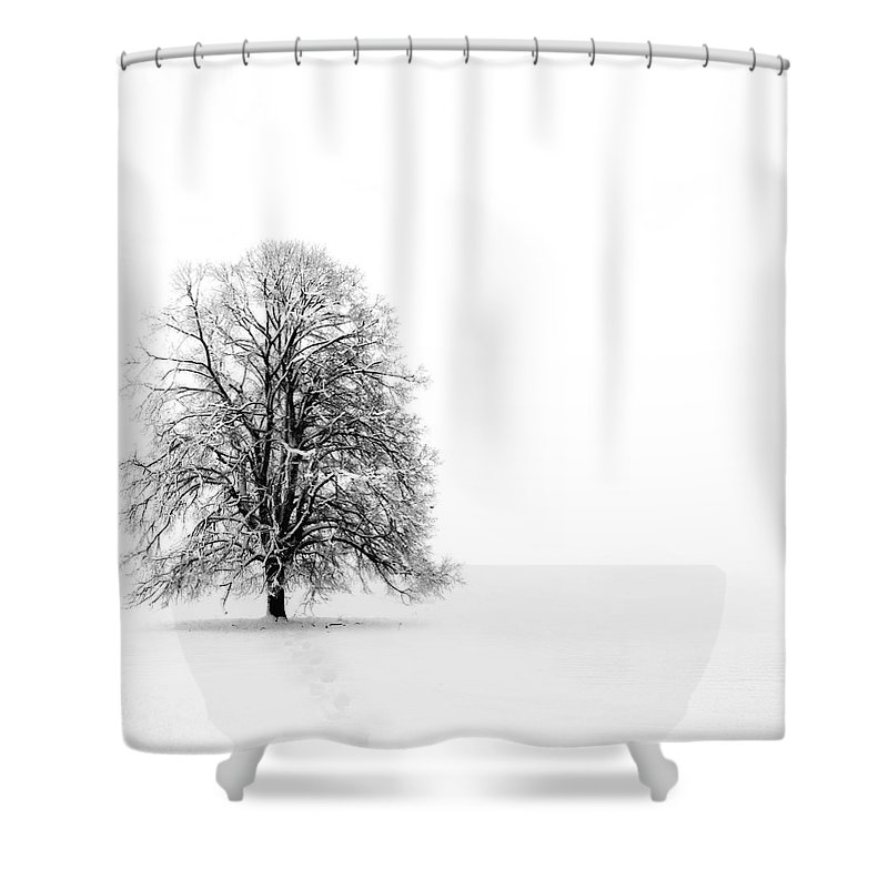 Landscape Shower Curtain featuring the photograph Silenzio by Jacky Gerritsen