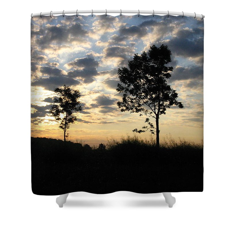 Landscape Shower Curtain featuring the photograph Silhouette by Rhonda Barrett