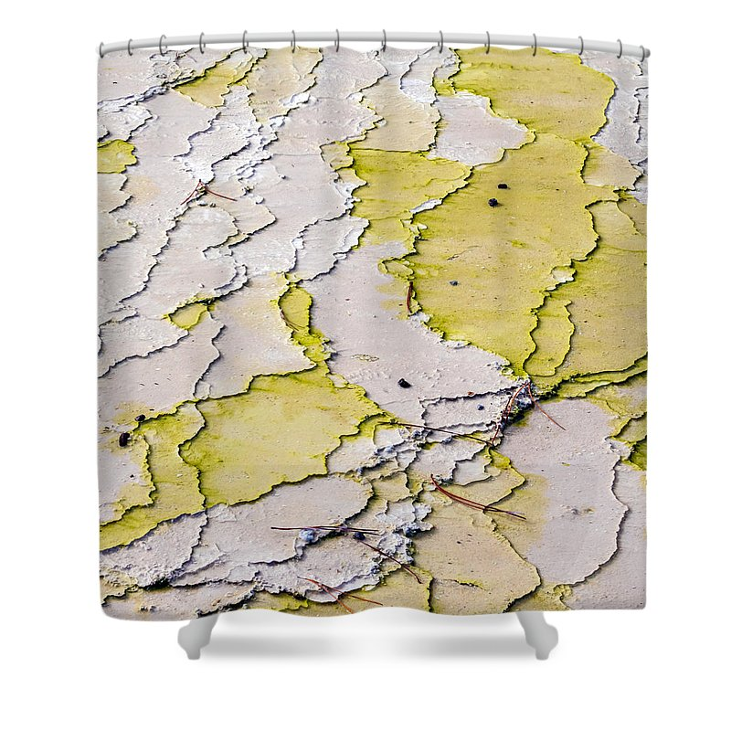 Silica Shower Curtain featuring the photograph Silica Terraces by Nicholas Blackwell