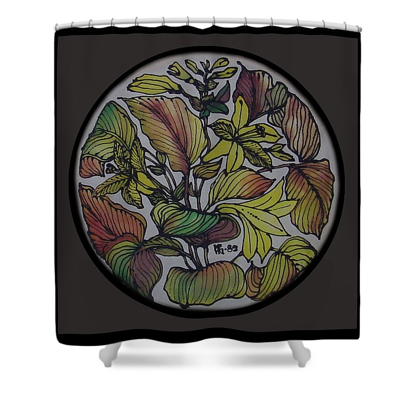 Silk Shower Curtain featuring the painting Silk Leaves by Shirley Heyn