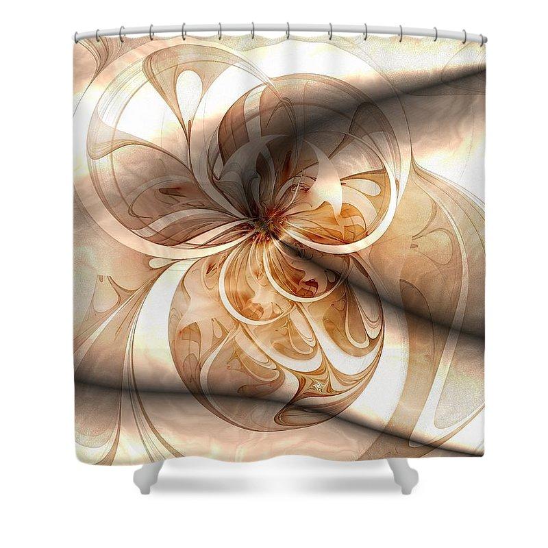 Digital Art Shower Curtain featuring the digital art Silk by Amanda Moore