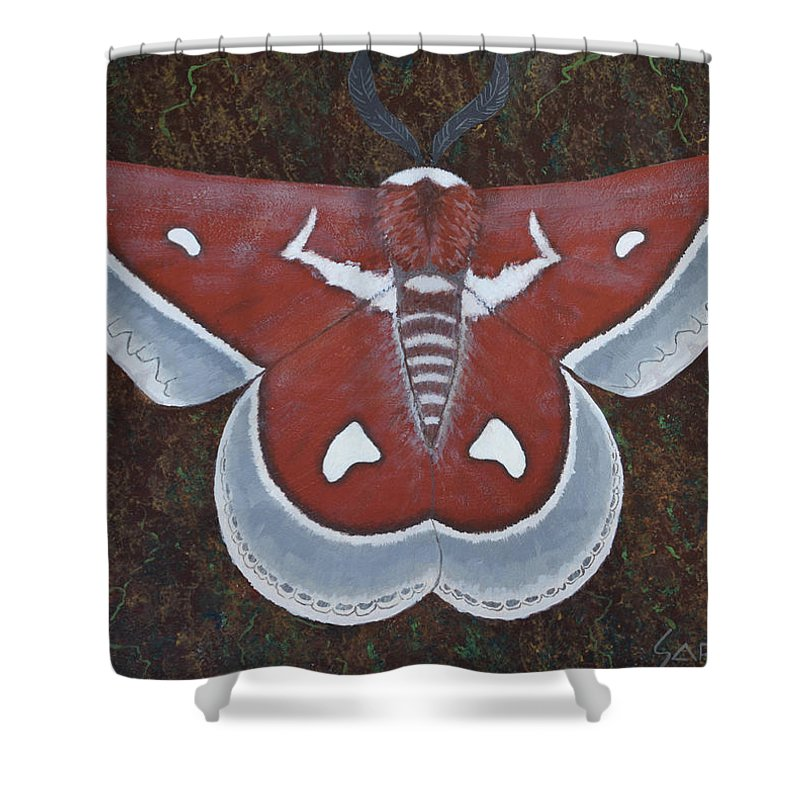 Silk Moth Shower Curtain featuring the painting Silk Moth by Jeff Sartain