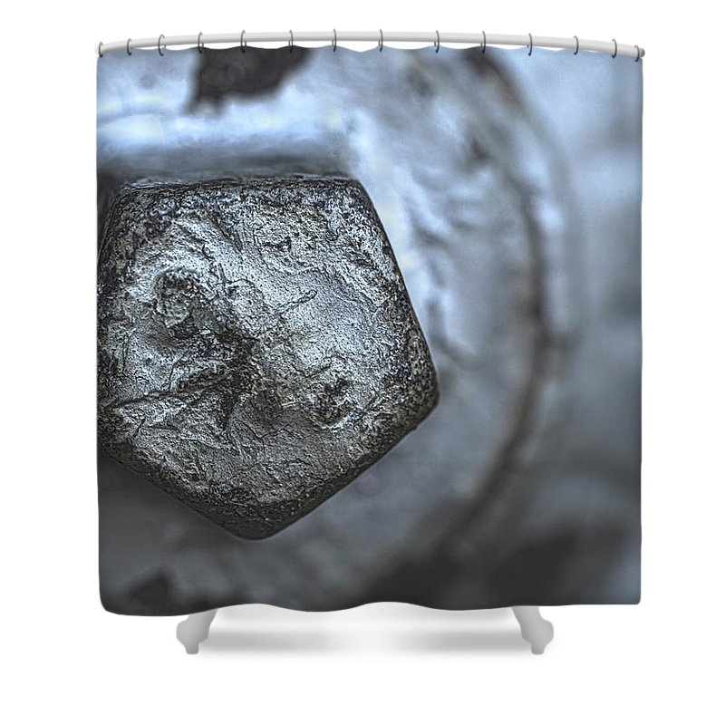 Hydrant Shower Curtain featuring the photograph Silver Bolt by Walter Murdock