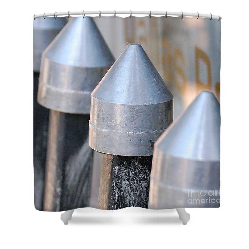 Gate Shower Curtain featuring the photograph Silver Bullets by Debbi Granruth