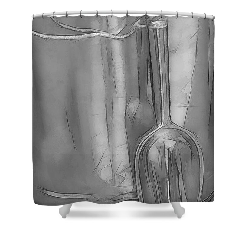 Silver Shower Curtain featuring the photograph Silver by Paulette Thomas