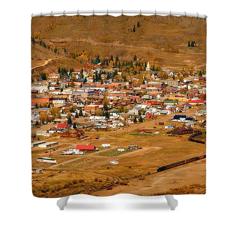 Silverton Colorado Shower Curtain featuring the photograph Silverton by David Lee Thompson