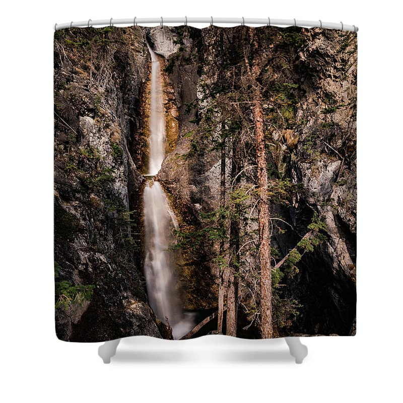Canadian Rockies Shower Curtain featuring the photograph Silverton Fall by Todd Carriveau