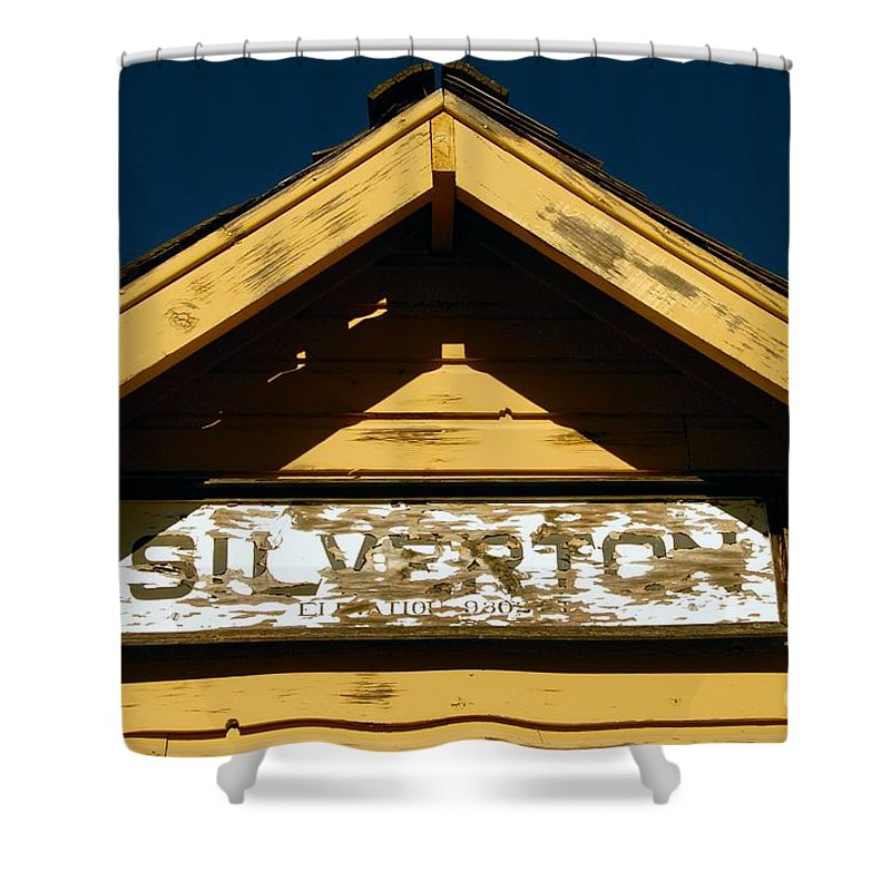 Silverton Colorado Shower Curtain featuring the photograph Silverton Train Station by David Lee Thompson