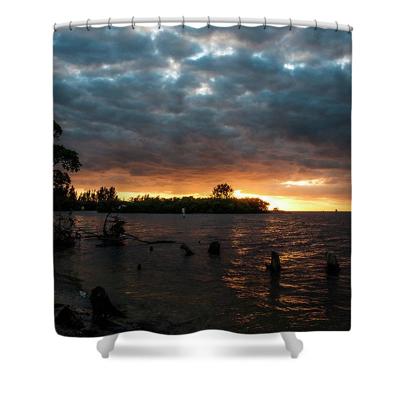 Sunsets Shower Curtain featuring the photograph Simmons Sunset by Norman Johnson