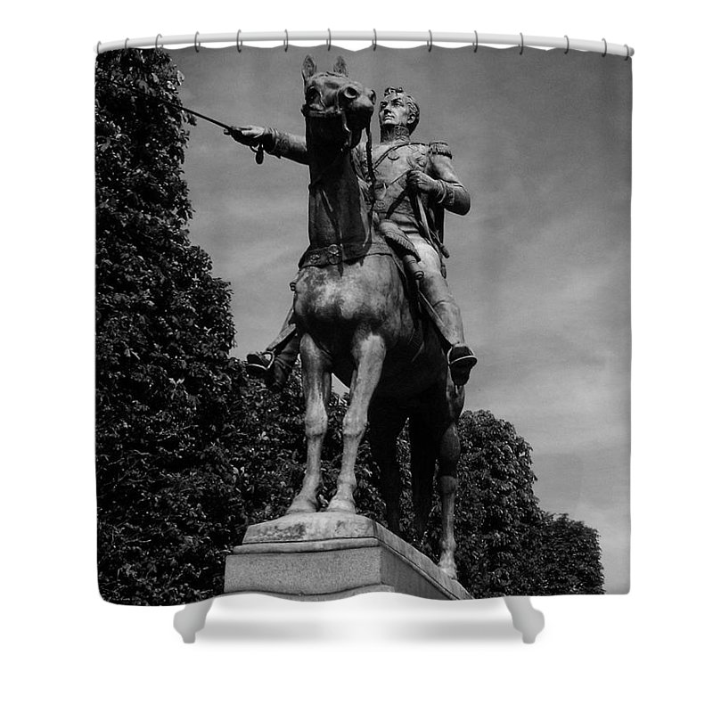 Simon Shower Curtain featuring the photograph Simon Bolivar by Juergen Weiss