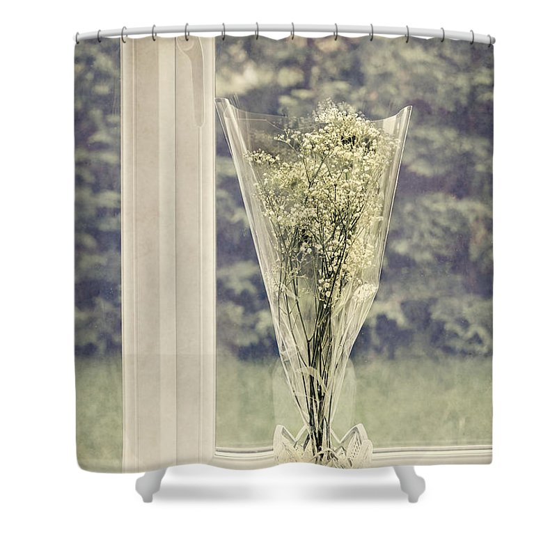 Anniversary Shower Curtain featuring the photograph Simple Bouquet by Svetlana Sewell
