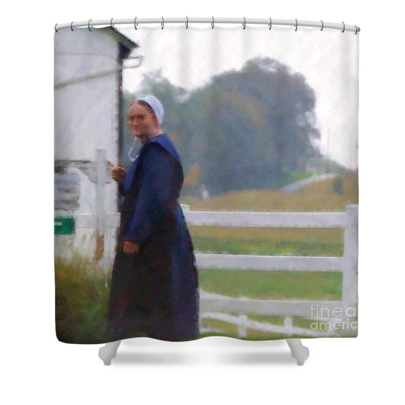 Amish Shower Curtain featuring the photograph Simple Living by Debbi Granruth