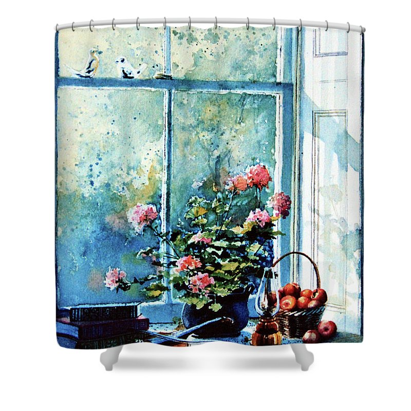 Still Life Shower Curtain featuring the painting Simple Pleasures by Hanne Lore Koehler