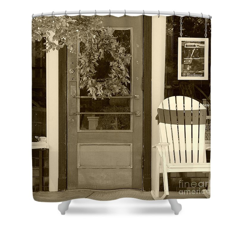 Rocking Chair Shower Curtain featuring the photograph Simple Times by Debbi Granruth