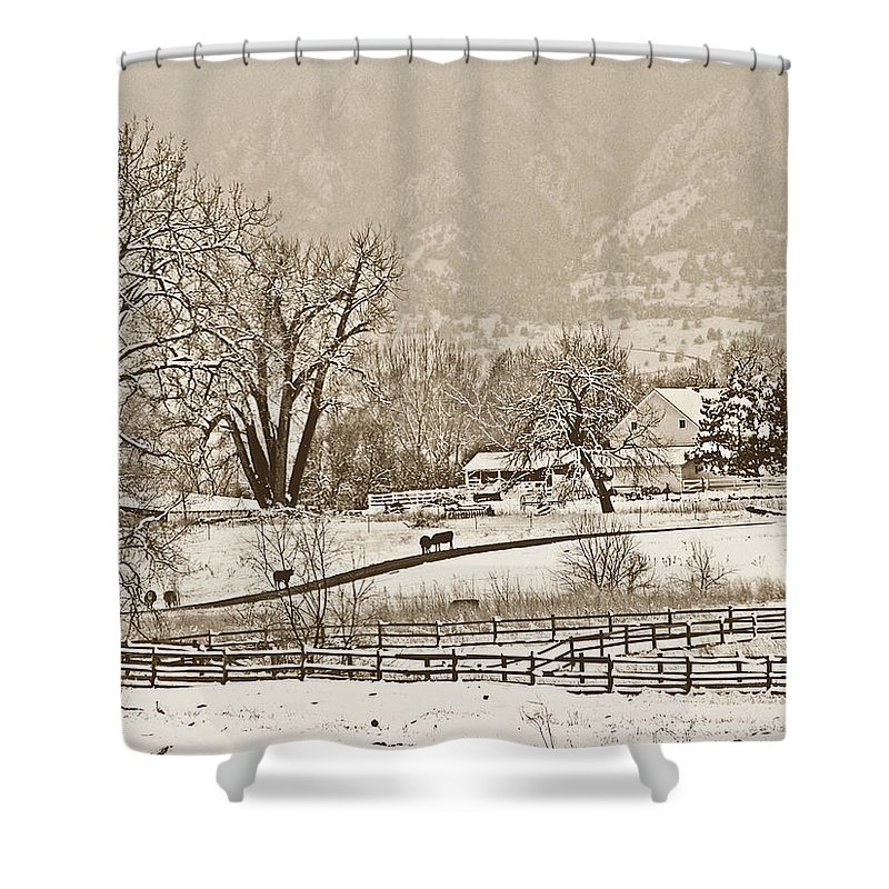 Landscape Shower Curtain featuring the photograph Simpler Times by Marilyn Hunt