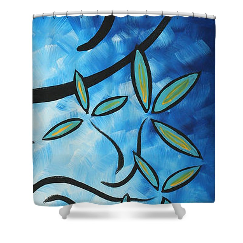 Wall Shower Curtain featuring the painting Simply Glorious 4 By Madart by Megan Duncanson