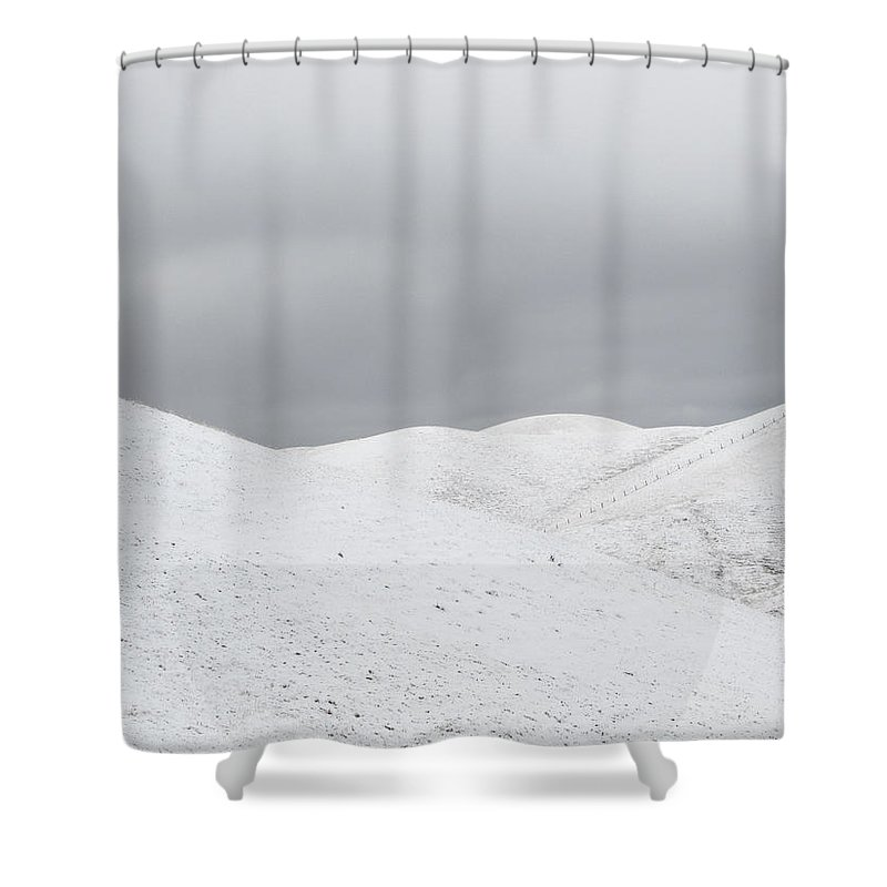 Snow Shower Curtain featuring the photograph Simply Snow by Karen W Meyer