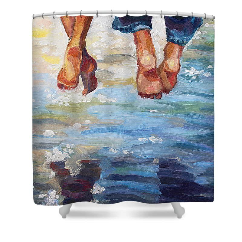 simply together shower curtain for sale by alina malykhina