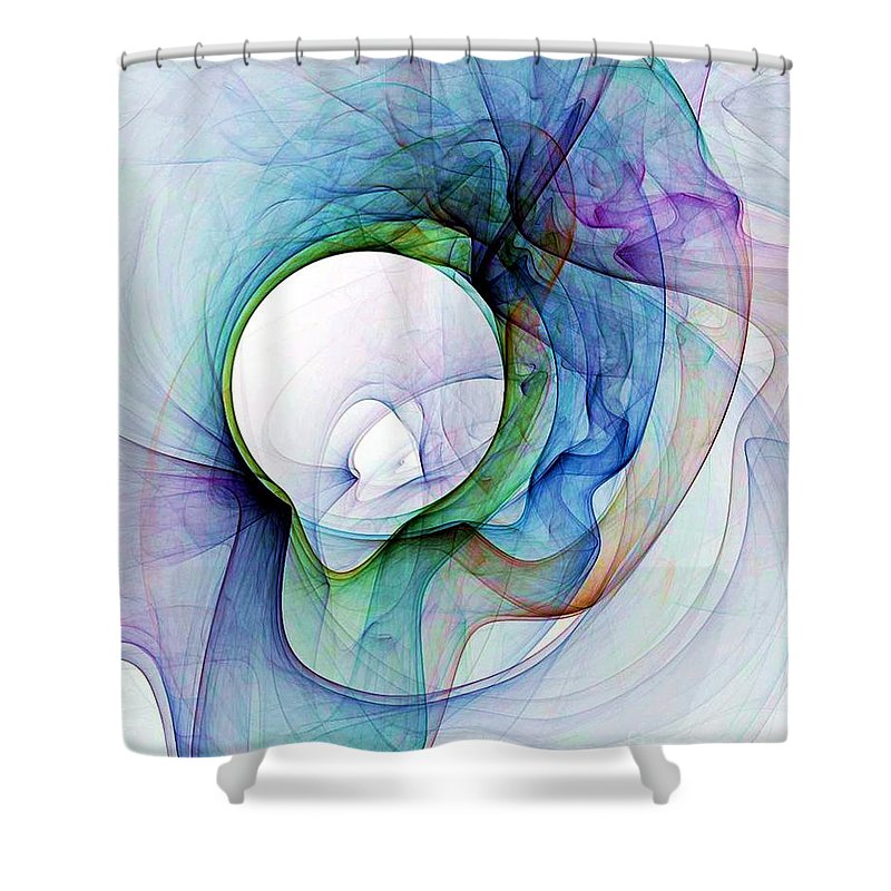 Smoke Shower Curtain featuring the digital art Simulated Colored Smoke by Ron Bissett