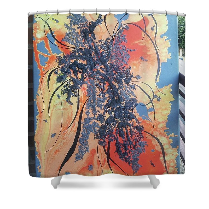 Cuadro Abstracto Shower Curtain featuring the painting Sin Titulo by Kunka Andonova