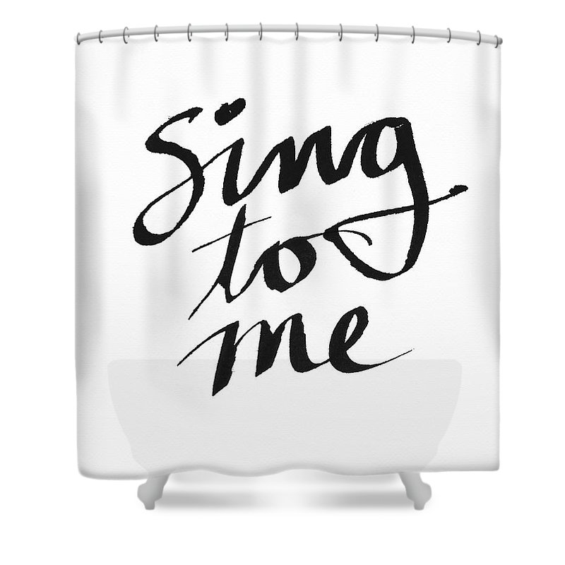 Sing Shower Curtain featuring the painting Sing To Me- Art By Linda Woods by Linda Woods