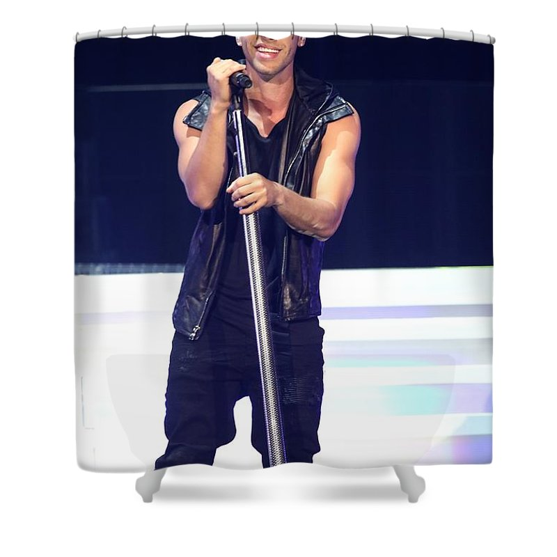 Vocals Shower Curtain featuring the photograph Singer Prince Royce by Concert Photos