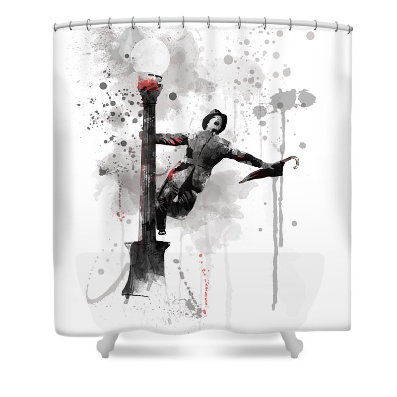 Singing In The Rain Shower Curtain Featuring Digital Art By Marlene