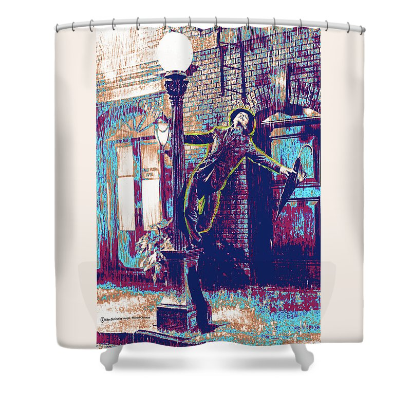 Singing In The Rain Shower Curtain Featuring Digital Art By Michael