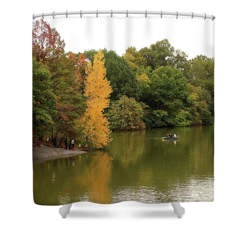 Yellow Shower Curtain featuring the photograph Singled Out by Nadia Asfar