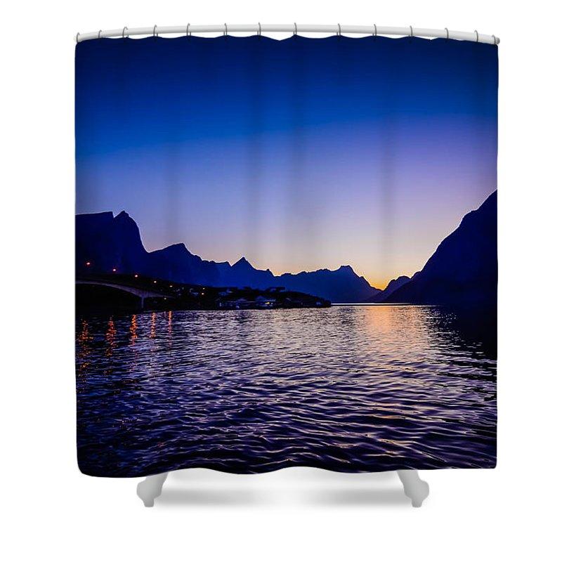 Norway Shower Curtain featuring the photograph Sinset Over Lofoten Islands by Kristina Jakubikova