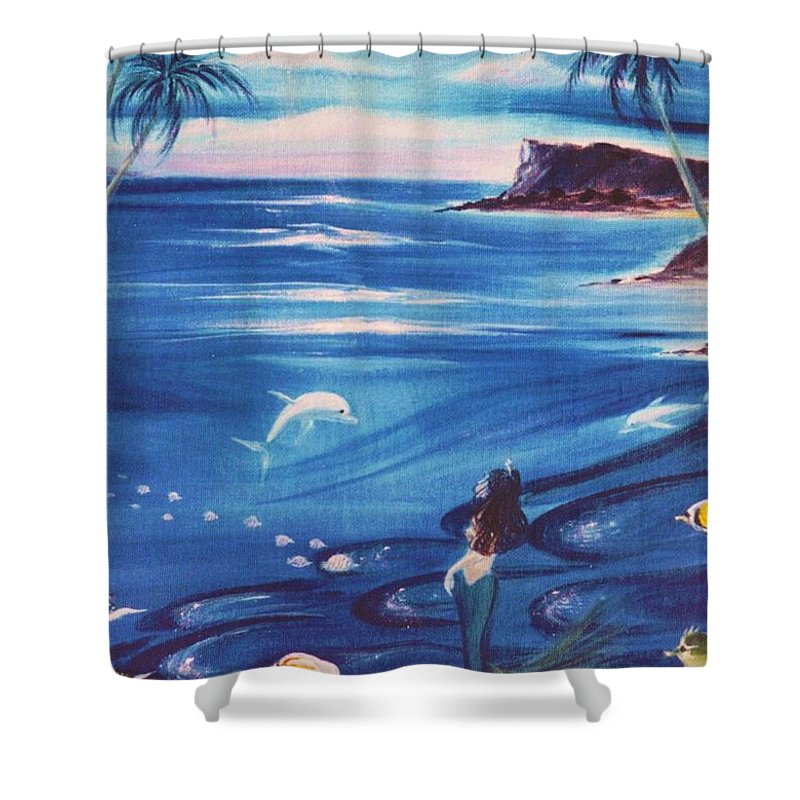 Ocean Shower Curtain featuring the painting Sirena by Dina Holland