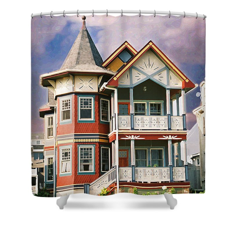 Landscape Shower Curtain featuring the photograph Sisters Panel Two Of Triptych by Steve Karol