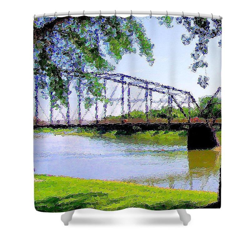 Fort Benton Shower Curtain featuring the photograph Sitting In Fort Benton by Susan Kinney