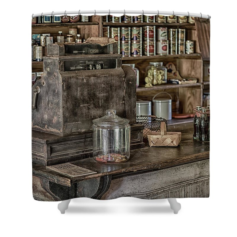 Country Store Shower Curtain featuring the photograph Six Cents - 5x7 by Stephen Stookey