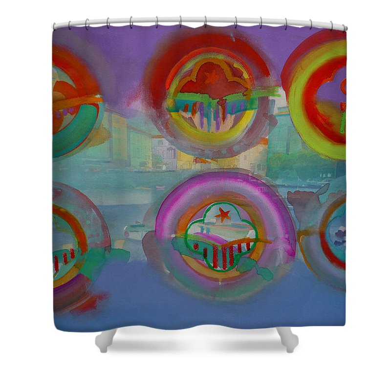 Landscape Shower Curtain featuring the painting Six Visions Of Heaven by Charles Stuart