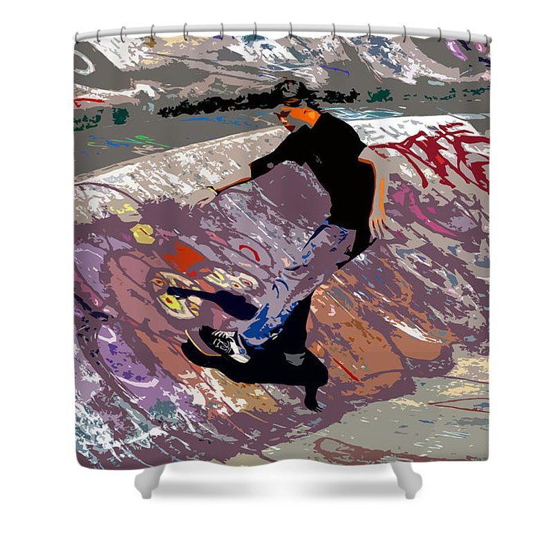 Skate Park Shower Curtain featuring the photograph Skate Park by David Lee Thompson