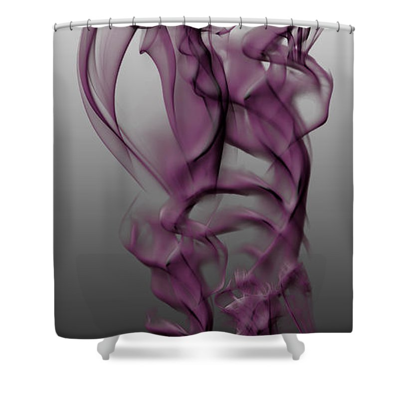 Clay Shower Curtain featuring the digital art Skeletal Flow by Clayton Bruster