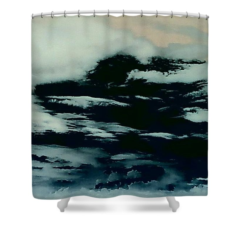 Clouds Sky Dark Shower Curtain featuring the photograph Sky 7 by Cindy New