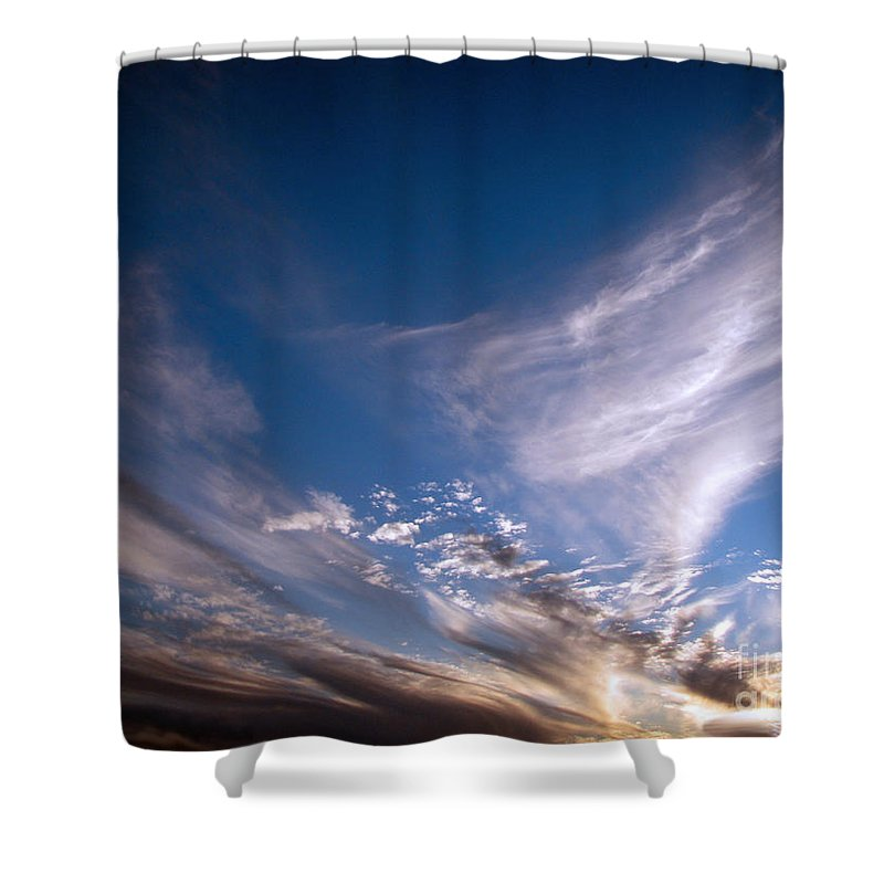 Skies Shower Curtain featuring the photograph Sky by Amanda Barcon
