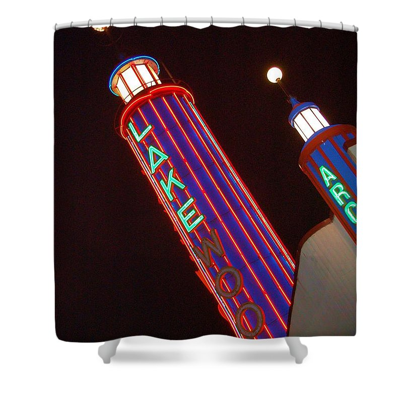 Neon Shower Curtain featuring the photograph Sky Lights by Debbi Granruth