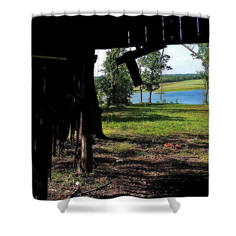 Landscape Shower Curtain featuring the photograph Skylights by Rachel Christine Nowicki