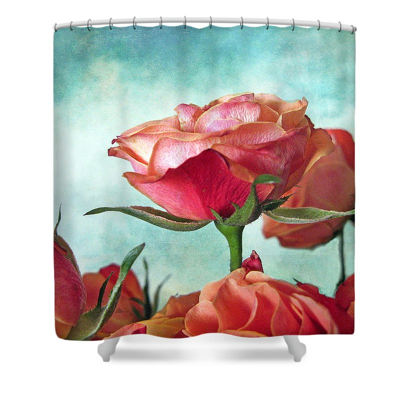 Flower Shower Curtain featuring the photograph Skyward by Jessica Jenney