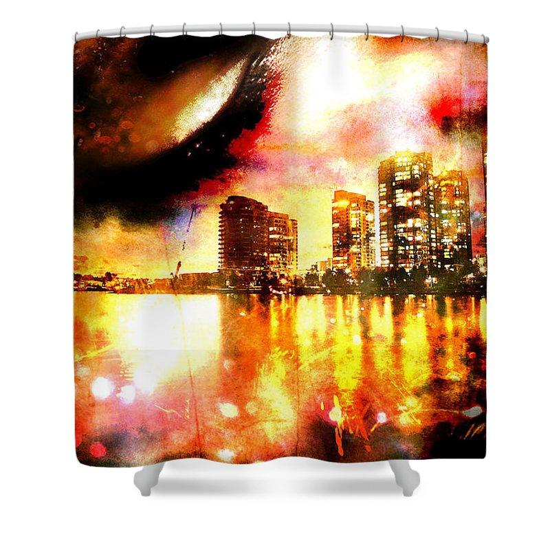 City Shower Curtain featuring the photograph Sleeper by Ken Walker